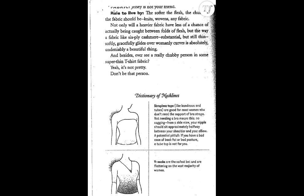 """""""Vous avez déjà vu une personne rondelette dans un t-shirt très fin ? Oui, ce n'est pas beau. Ne soyez pas cette personne""""."""