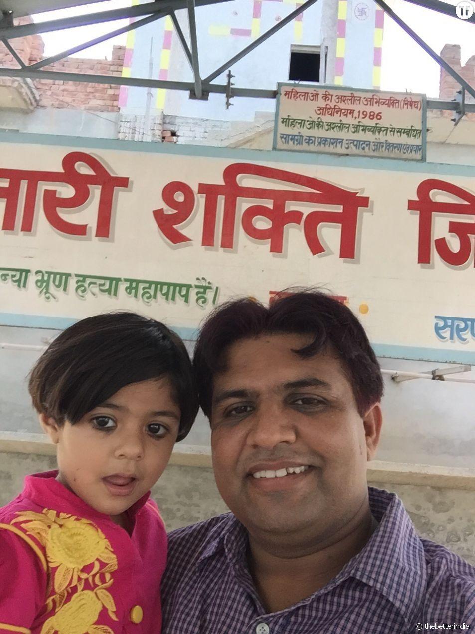 Sunil Jaglan et sa fille Nandini.
