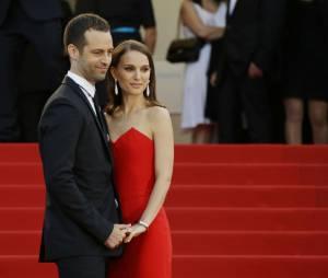 """Natalie Portman et Benjamin Millepied à la projection de """"La tête haute"""" le 13 mai 2015."""