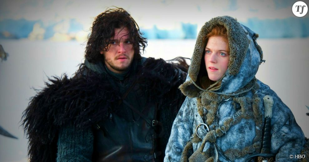 Ygritte (Rose Leslie) et Jon Snow (Kit Harington)