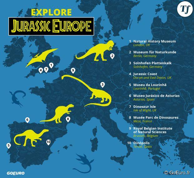 Le tour d'Europe des dinosaures.