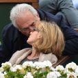 Myriam L'Aouffir et Dominique Strauss-Kahn à Roland-Garros le 9 juin 2013.