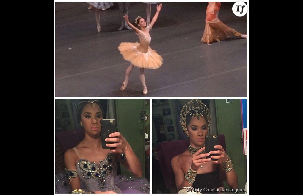 Misty Copeland à l'époque où elle dansait dans le ballet La Bayadère