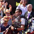 Jo Wilfired Tsonga, Andy Murray et Rodger Federer a wimbledon en 2015