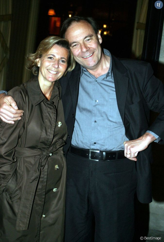 claire chazal et son mari xavier couture en 2003. Black Bedroom Furniture Sets. Home Design Ideas