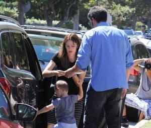 : Ben Affleck et Jennifer Garner sont allés à l'église avec leurs enfants Violet, Seraphina et Samuel à Pacific Palisades, le 13 septembre 2015