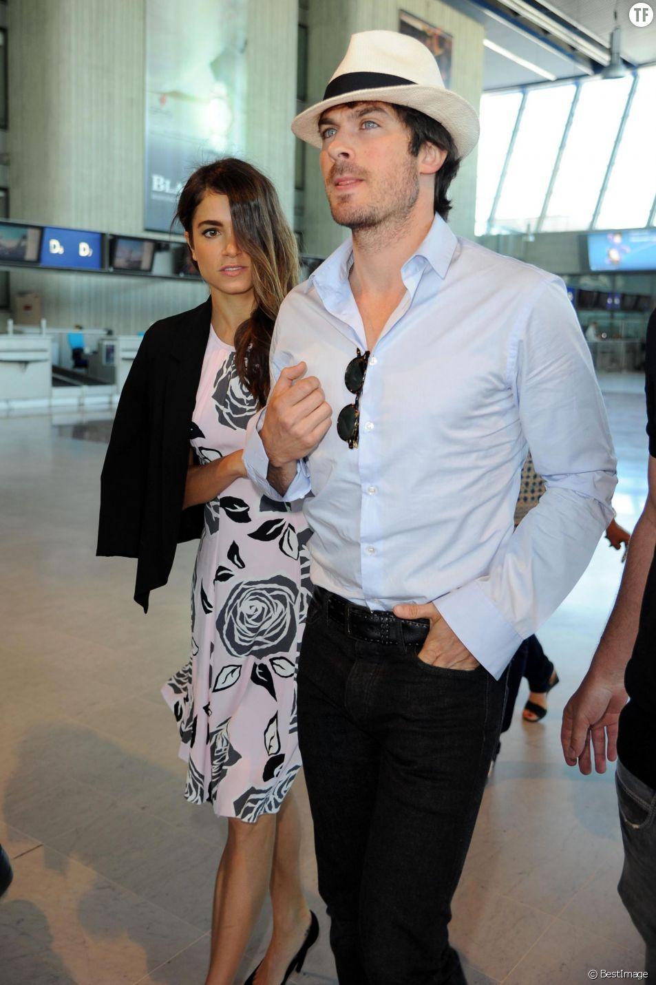 : Nikki Reed et Ian Somerhalder - People à l'aéroport de Nice le 22 mai 2015 pendant le 68ème Festival du film de Cannes