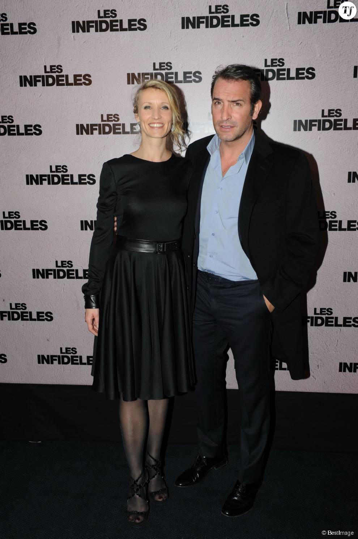 Alexandra lamy et jean dujardin lors de l 39 avant premiere for Qui est la compagne de jean dujardin