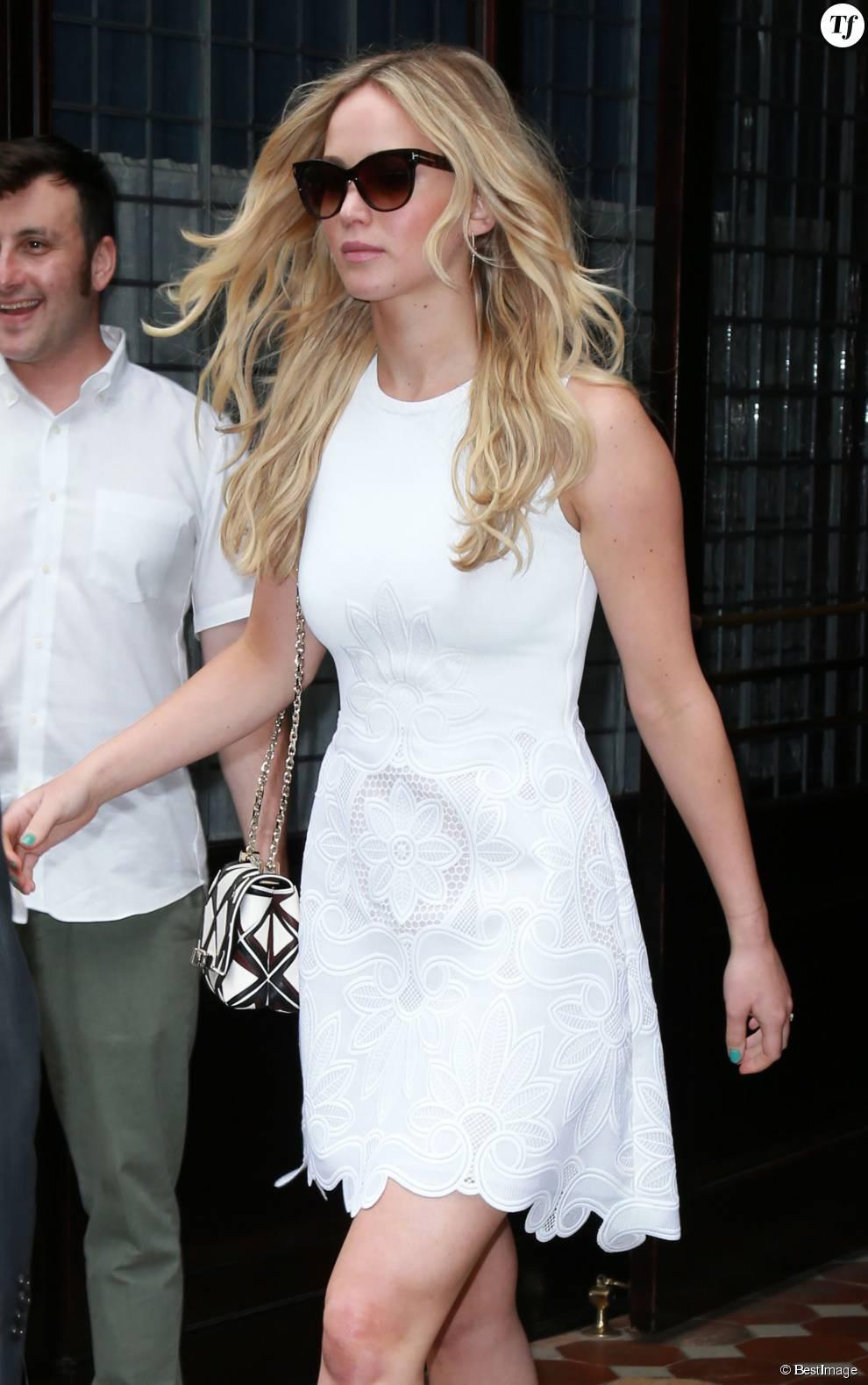 Jennifer Lawrence dans les rues de New York, le 29 juin 2015.