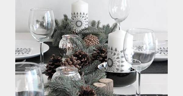une d co de table qui sent bon la nature mais tout aussi chic avec ses bougies et les touches d. Black Bedroom Furniture Sets. Home Design Ideas
