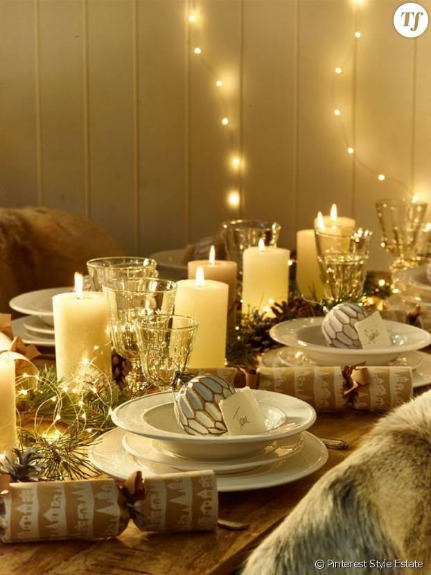 15 jolies id es d co de no l pour la table et la maison terrafemina. Black Bedroom Furniture Sets. Home Design Ideas