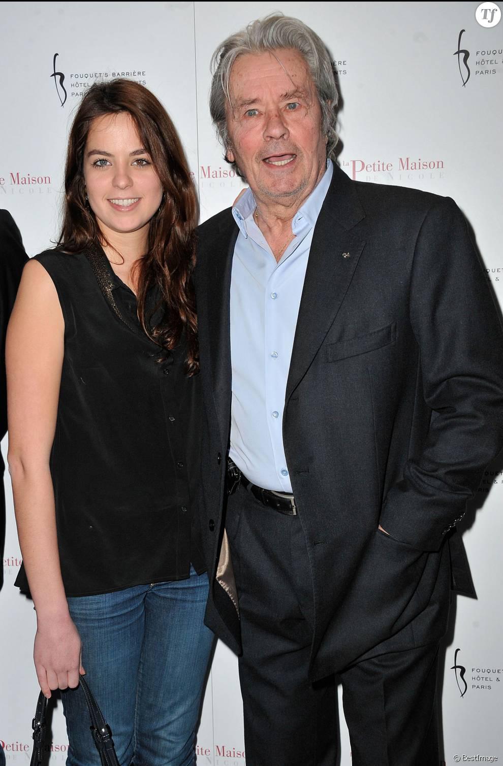 Alain Delon et sa fille Anouchka