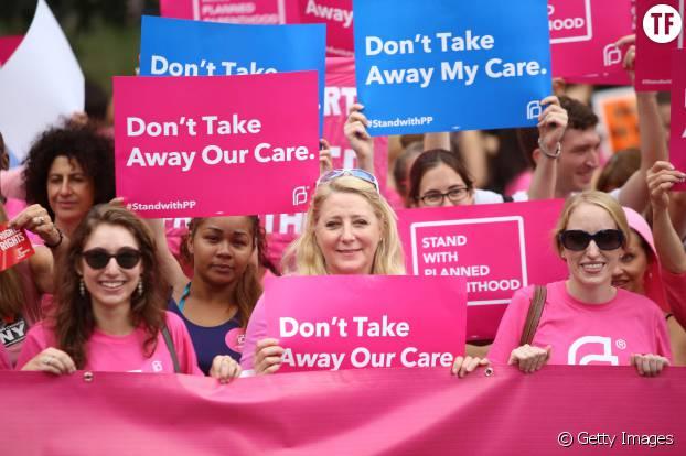 Manifestation aux Etats-Unis contre la fermeture du Planning Familial