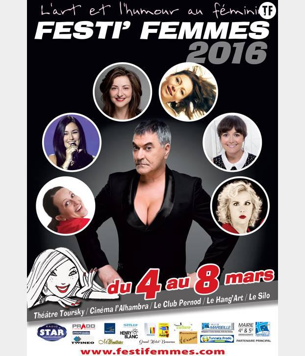 La très chic affiche du Festi'Femmes de Marseille