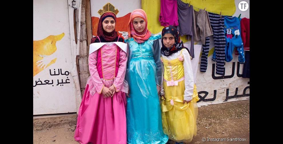 Les trois princesses d'un jour choisies par Saint Hoax : Bayan,   Raghad et   Mona.