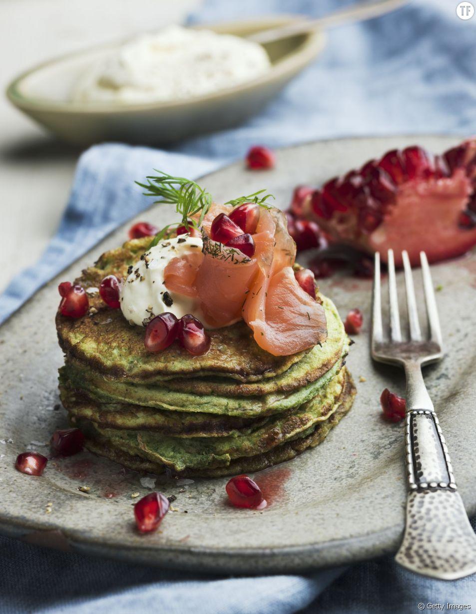 Pancakes au saumon suédois