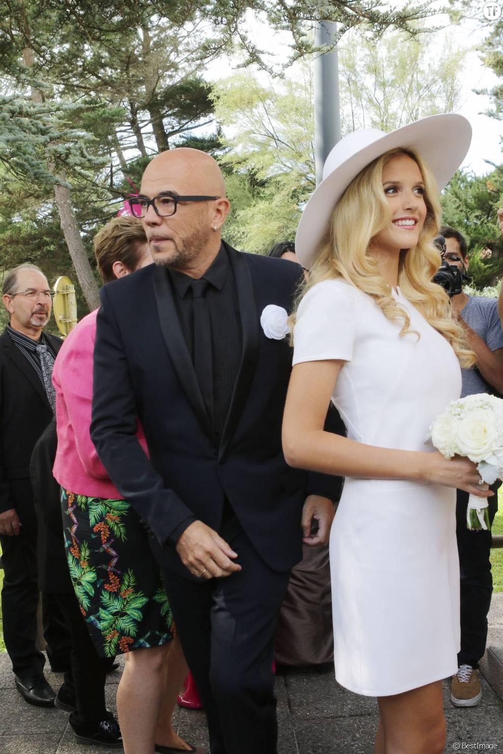 Pascal Obispo et Julie Hantson, le jour de leur mariage