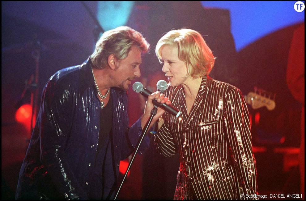 Johnny Hallyday et son ex-femme Sylvie Vartan en 1998