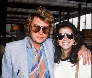 Johnny Hallyday et son-femme Babeth en 1981