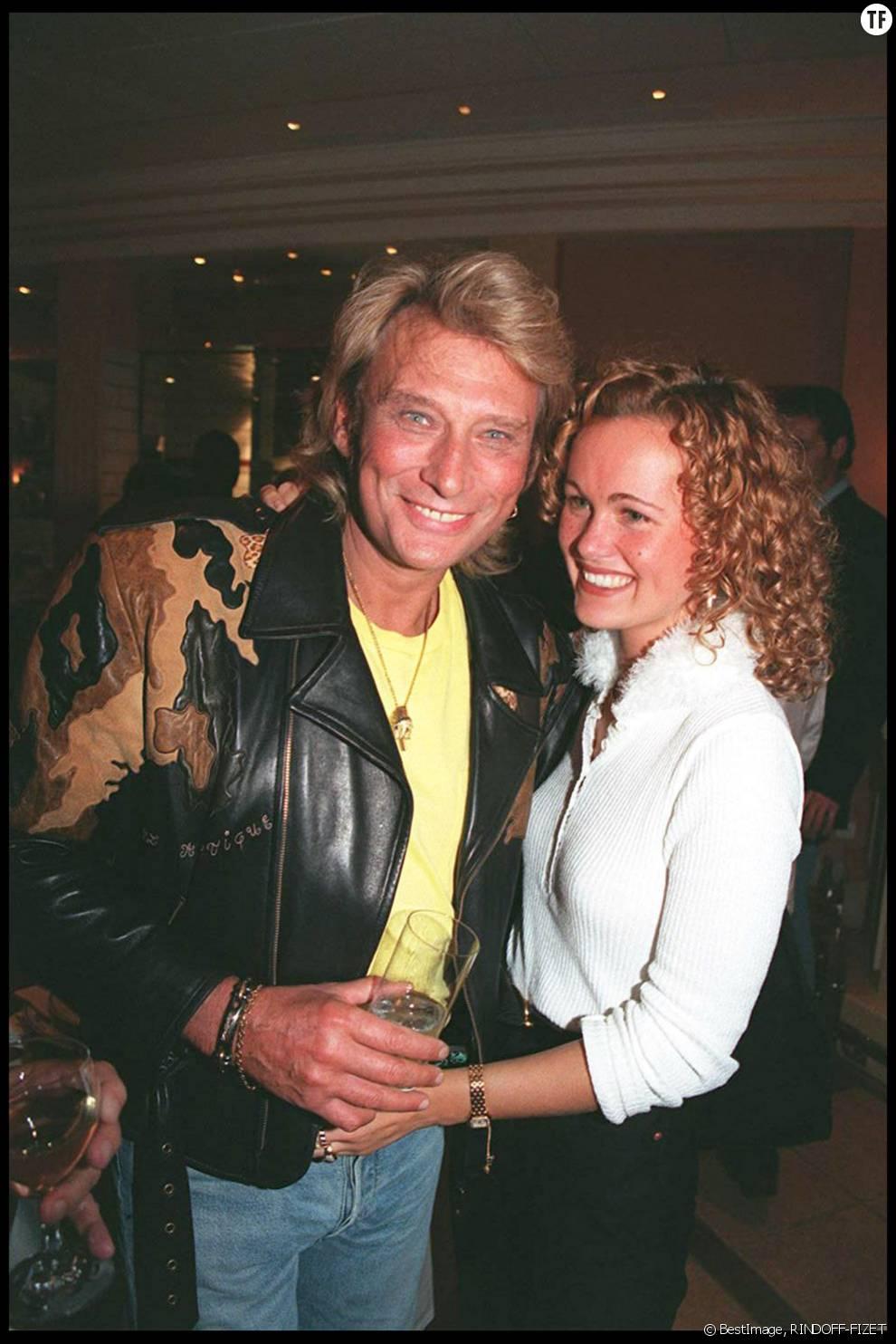 Johnny et Laetitia Hallyday en 1995