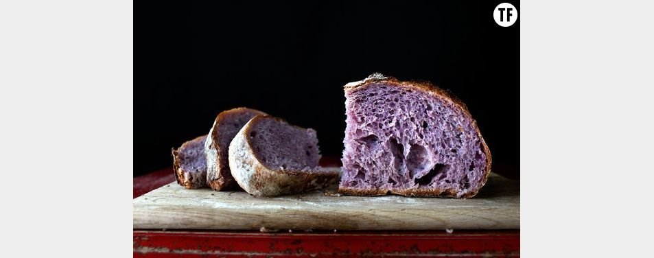 Le pain violet: tendance et healthy
