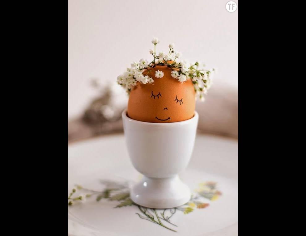 Ces petits oeufs feront une déco délicate et adorable sur votre table de Pâques