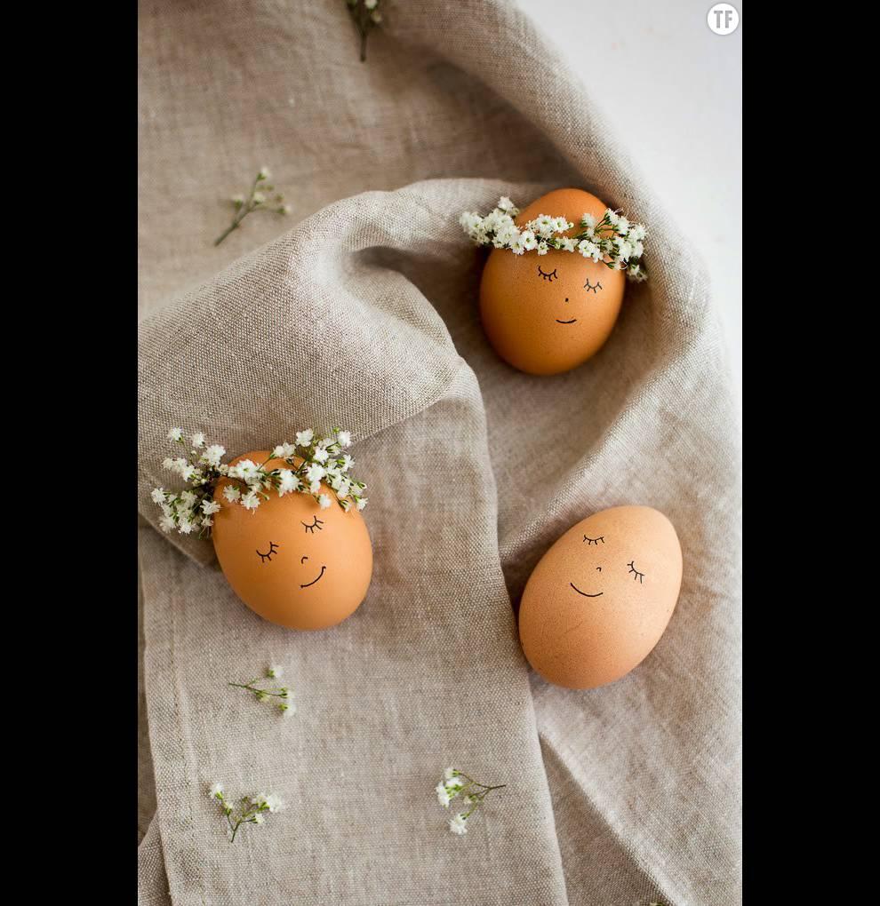 Vous pouvez leur faire différents visages pour agrémenter votre table d'adorables perosnnages de Pâques!