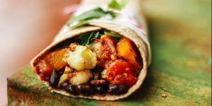 La recette du burrito végétarien aux légumes et au fromage