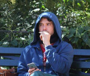 """Kit Harington sur le tournage de """"The Death and Life of John F. Donovan"""" à Central Park à New York City le 2 septembre 2016"""