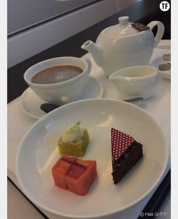 Et pour finir un thé accompagné de petites sucreries...