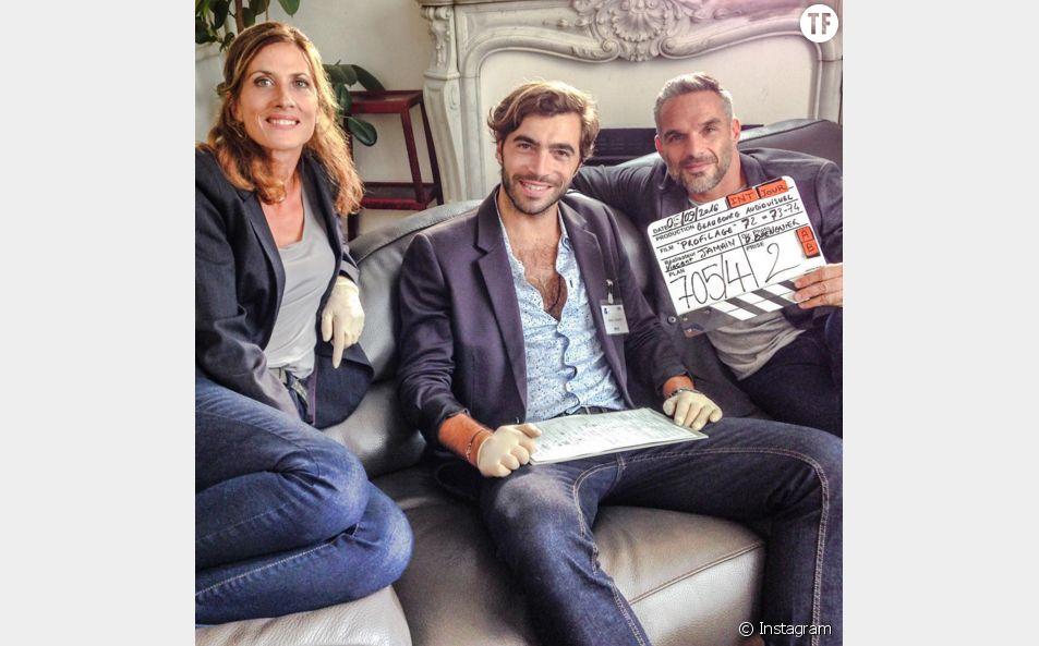 Gian Marco Tavani (Bachelor 3) sur le tournage de Profilage