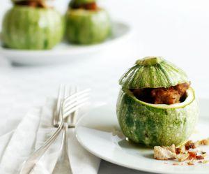 La recette des courgettes farcies à l'oeuf, poivron et chorizo