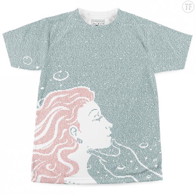 T-shirt Le temps n'est rien sur Litographs