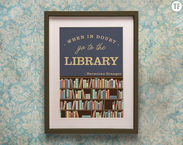 Poster Harry Potter sur Etsy