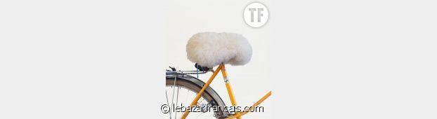 Housse de selle à vélo moumoute