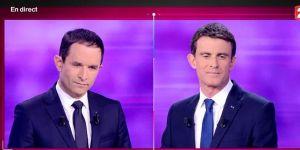 Primaire de la gauche : revoir le débat Benoît Hamon-Manuel Valls en replay (25 janvier)