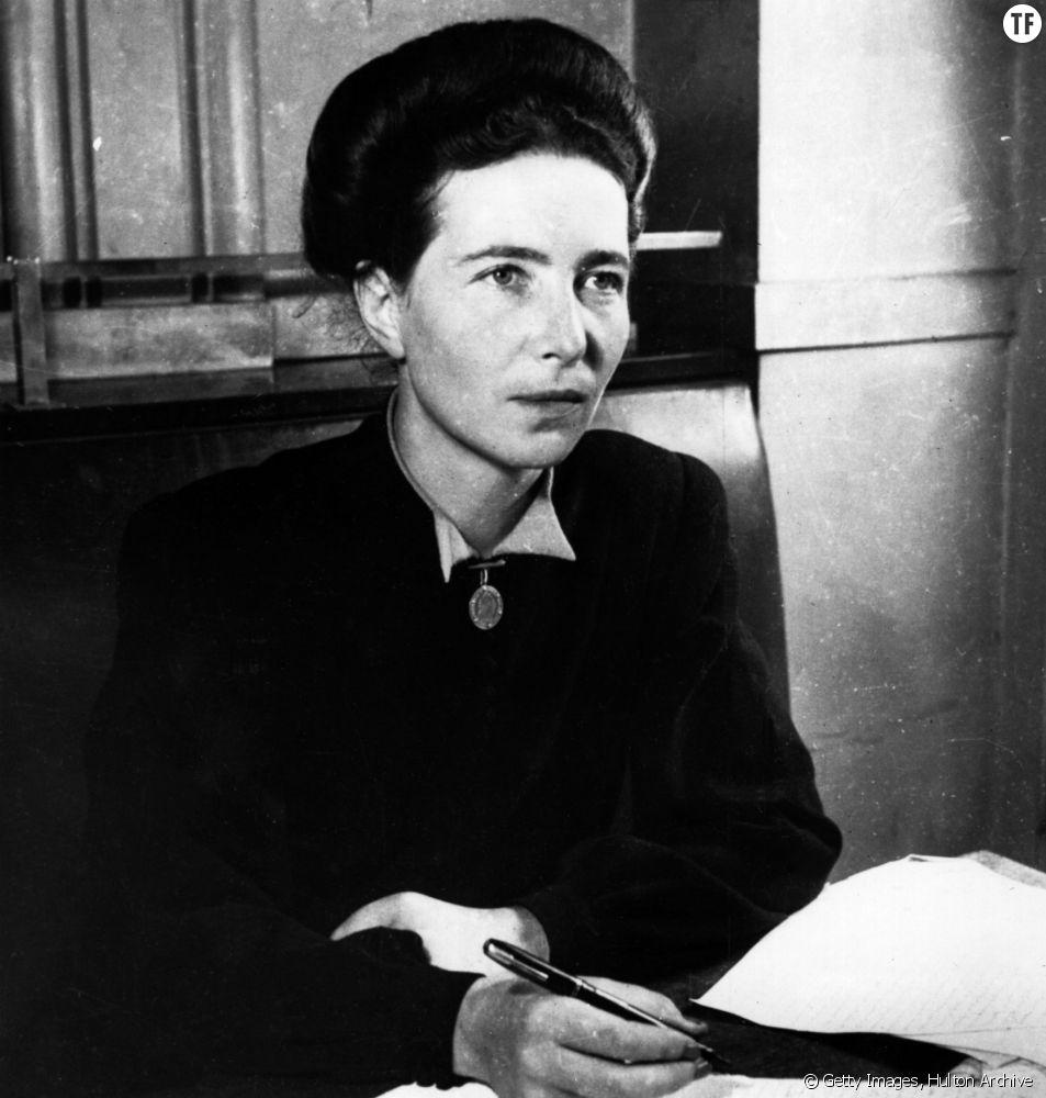 L'écrivaine Simone de Beauvoir