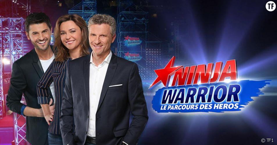 Sandrine Quétier, Christophe Beaugrand et Denis Brogniart animateurs de Ninja Warrior 2017