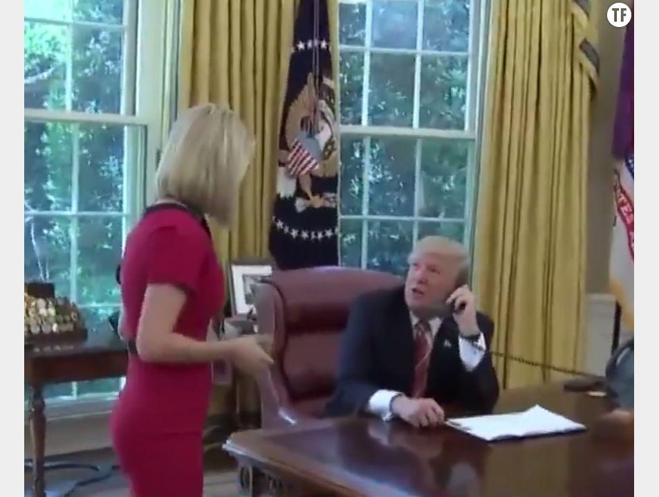 Donald Trump drague une journaliste en direct : sexiste et dérangeant