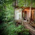 Cette petite cabane dans les bois est féerique !