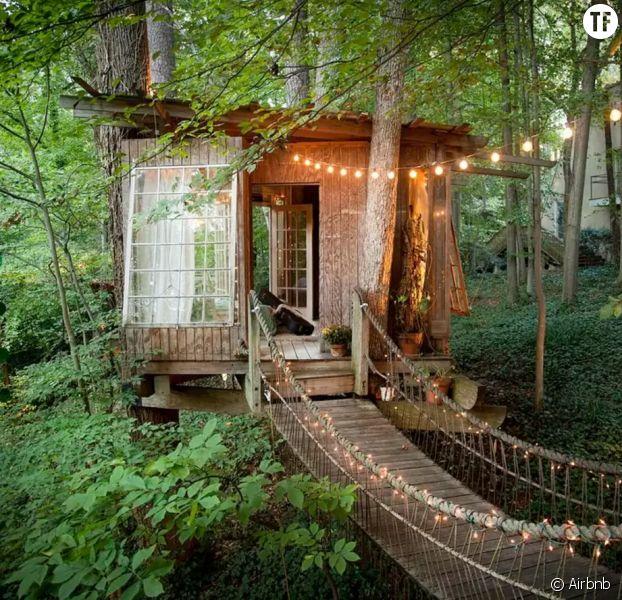 cette maison dans les arbres est le spot le plus demand d 39 airbnb terrafemina. Black Bedroom Furniture Sets. Home Design Ideas