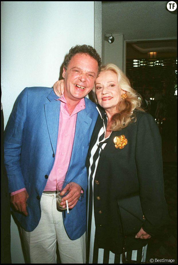 Jeanne Moreau et son fils jérôme Richard en 1995 au festival de Cannes