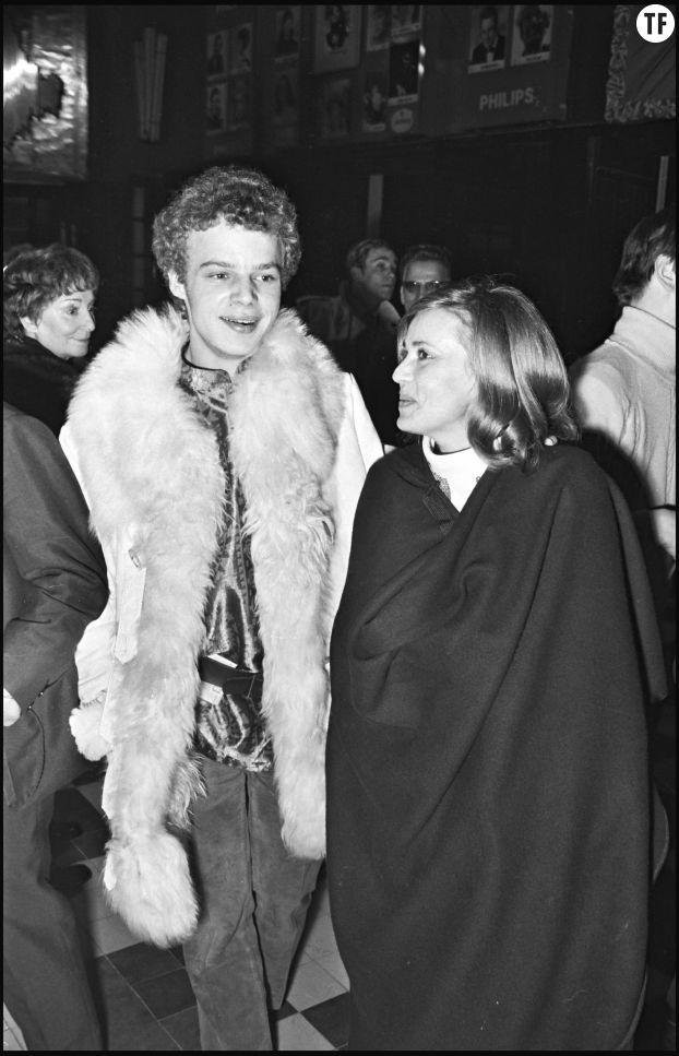 jeanne Moreau et son fils Jérôme au concert de Georges Moustaki en 1970