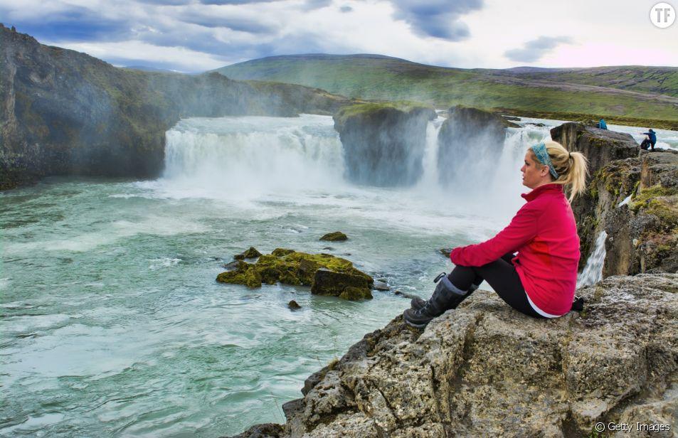 Les chutes d'eau de Godafoss en Islande