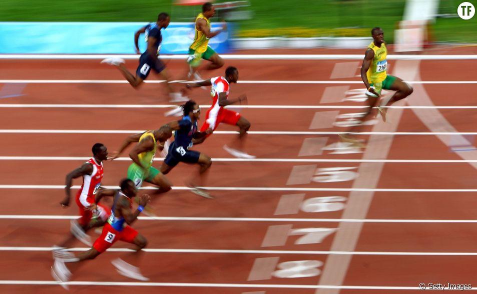 Usain Bolt lors des Jeux Olympiques de Pékin en 2008