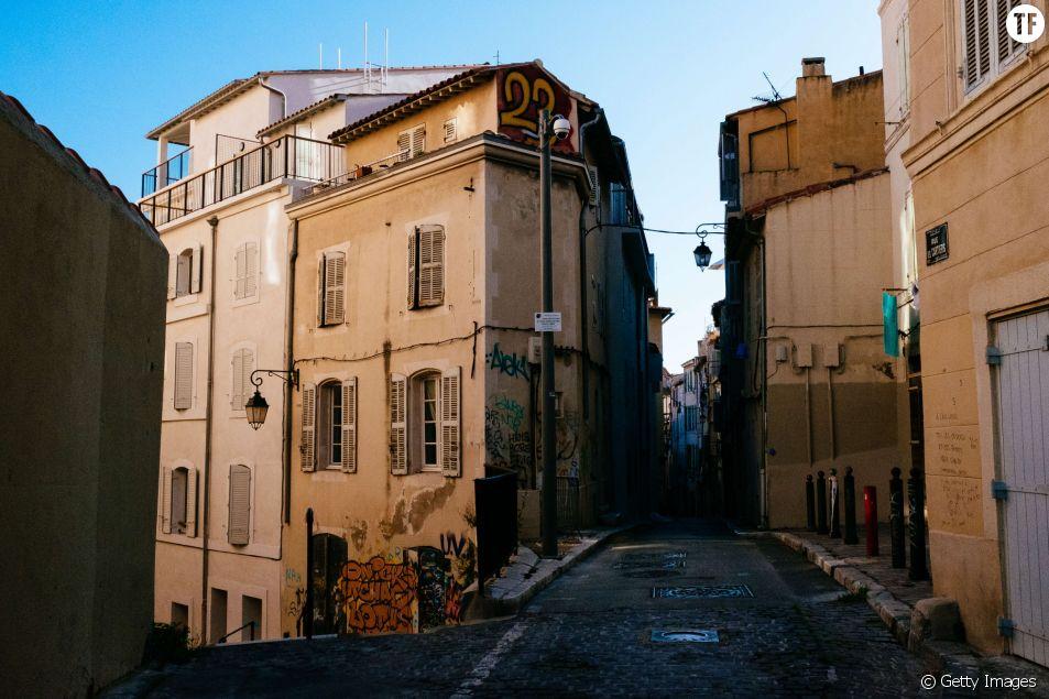 Rues de Marseille, dans le quartier du Panier.