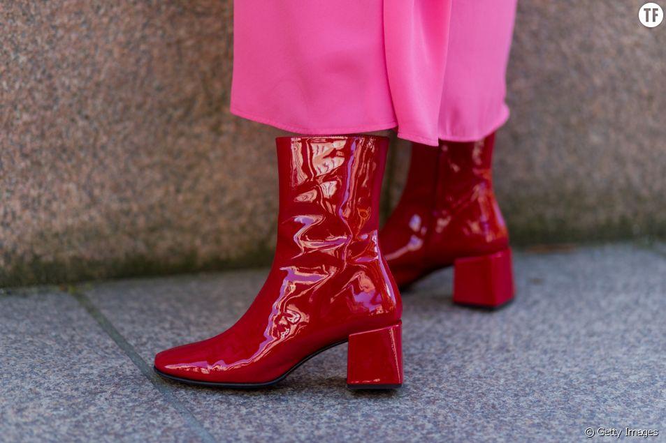 Les bottines rouges, les chaussures stars de l'hiver 2017/2018