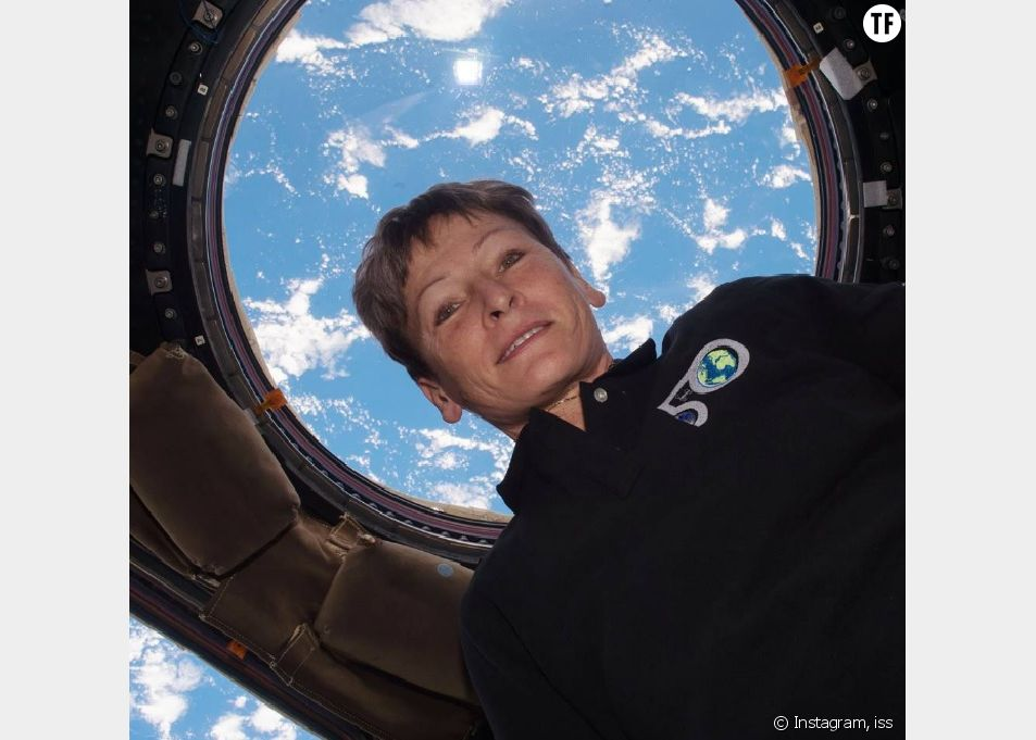 L'astronautePeggy Withson à bord de la Station spatiale internationale