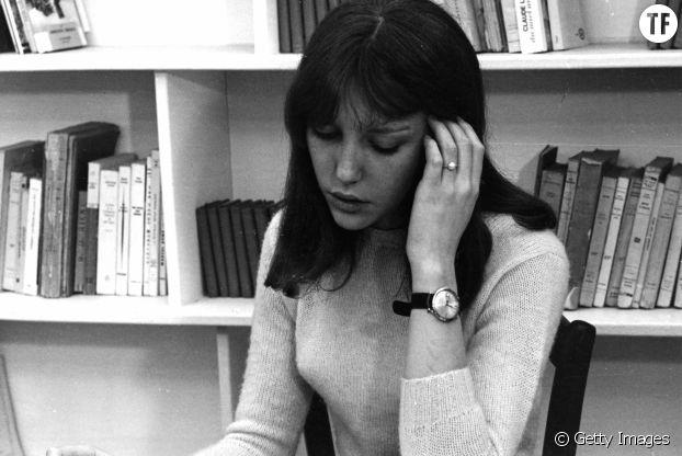 Anne Wiazemsky sur le tournage du film La Chinoise, 1967