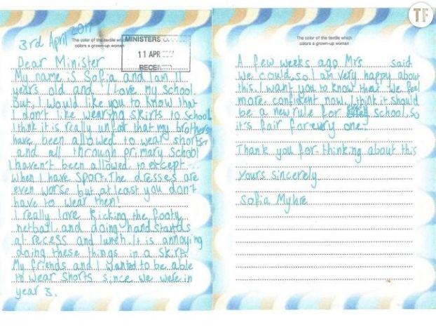 Lettre de Sofia Myhre à Sue Ellery